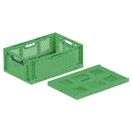 Folding Crate 46L Ventilated Sides &Base 600x400x230mm