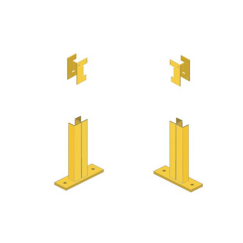 Corner Brackets Right Hand For Mesh Partitioning Bcr T