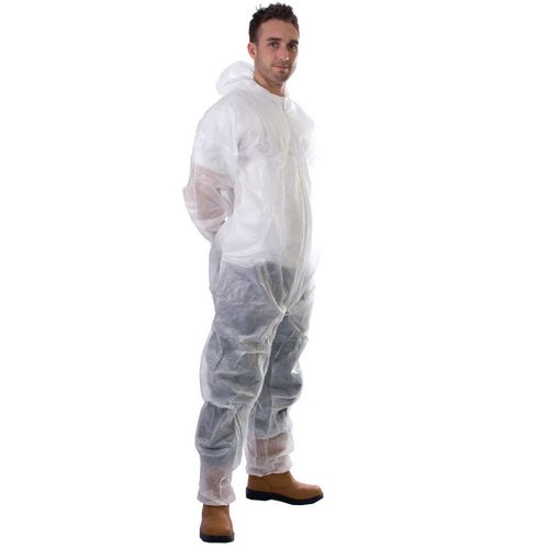 Small Pp Non-Woven Coverall Pack Of 50