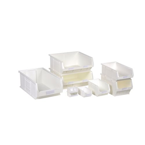 Container Tc5 Anti-Bacterial White 350X205X182mm Louvre Value 12 (Pk. Of 10)