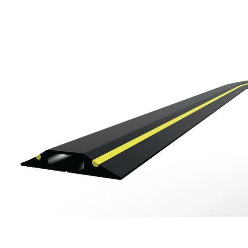 General Purpose Cable Protector Single Narrow Bore Black/Yellow 3M