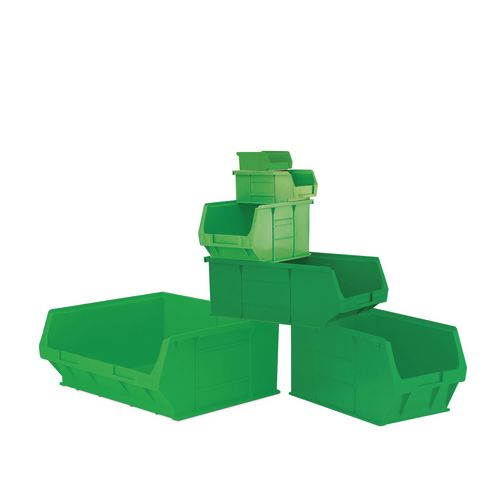 Container Green Pack Of 60 90X100X50mm Louvre Value 1.5
