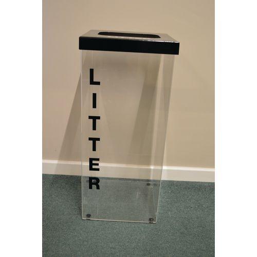 Greenline Clear Recycling Bin for Litter