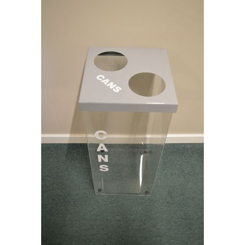 Greenline Clear Recycling Bin for Cans