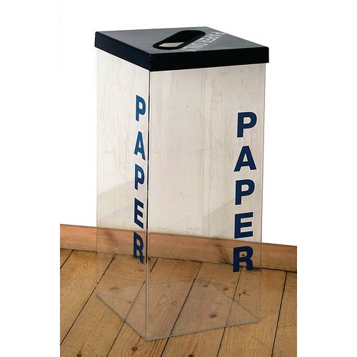 Greenline Clear Recycling Bin for Paper