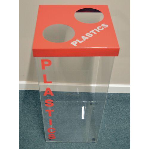 Greenline Clear Recycling Bin for Plastics