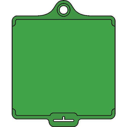 Assettag Medium Blank Single Tag Green