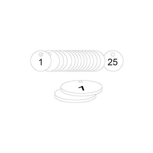 27mm Dia. Traffolite Tags White (1 To 25)