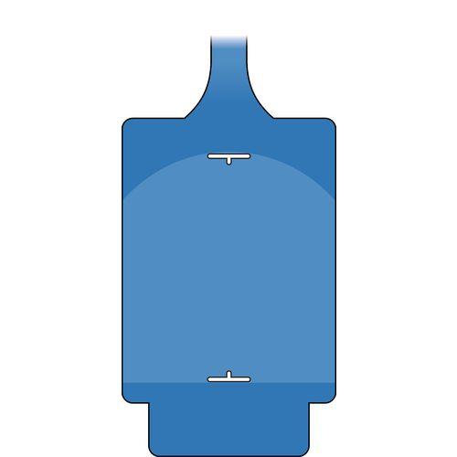 Assettag Flex Blank Single Tag Blue