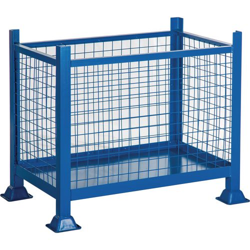 Steel Box Pallet Mesh Sided HxWxD 760x915x915mm - 500kg Capacity