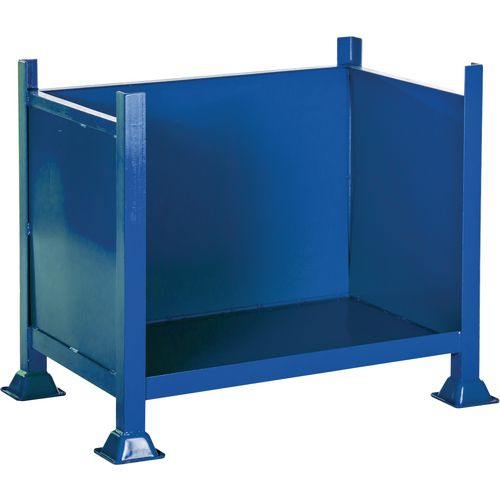 Steel Open Fronted Pallet Three Sheet Sides HxWxD 760x1220x915mm - 500kg Capacity