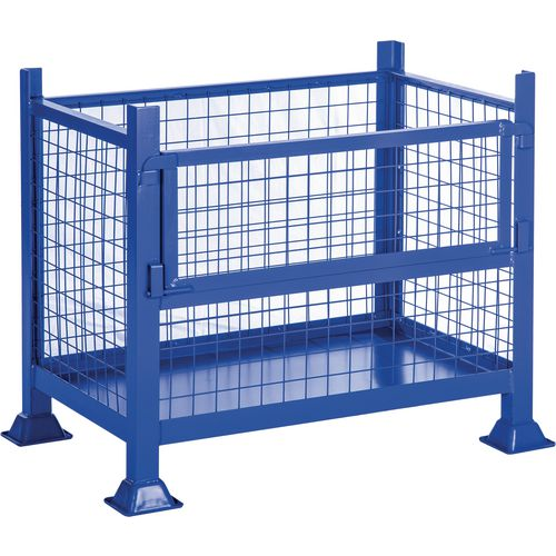 Steel Half-Drop Pallet Sheet Sided HxWxD 760x915x915mm - 500kg Capacity