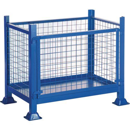 Steel Detachable Side Pallet Mesh Sided HxWxD 760x1220x915mm - 500kg Capacity