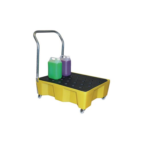 Robust Mobile Drip Tray Fitted With Swivel Cators And Full Width Handle To Suit