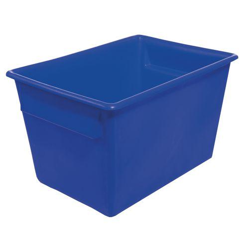 Rectangular Food Grade Plastic Storage Box With Tapered Sides 200L L825xW480xH680mm Blue