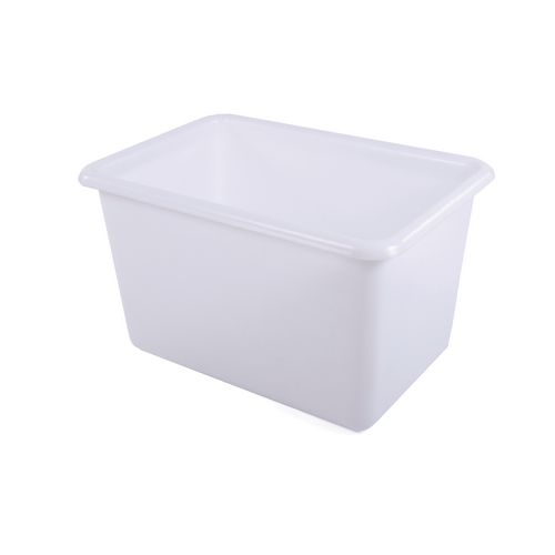 Rectangular Food Grade Plastic Storage Box With Tapered Sides 200L L825xW480xH680mm Green