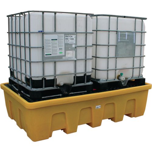 Double Ibc Spill Pallet Stackable Yellow