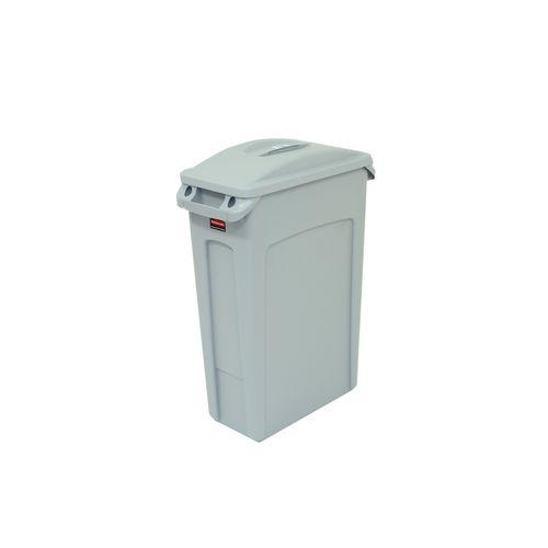 Bin Waste Slim Jim Body 87L Colour Grey 760 X 510 X 280mm