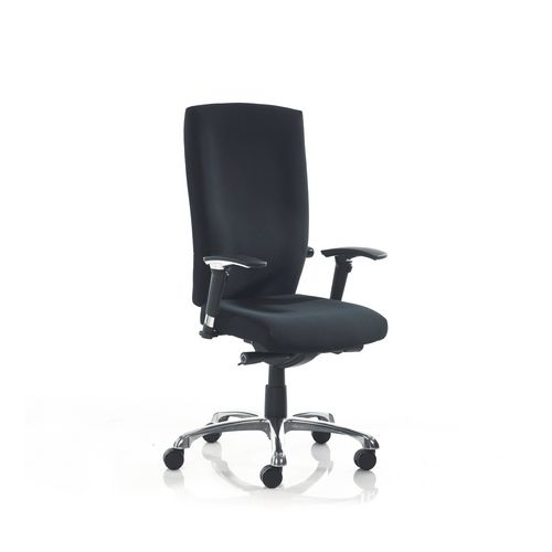 Wave High Back Task Chair Black Fabric