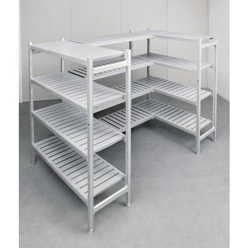 Eko Fit Aluminium Shelving 4 Shelf Levels 450x1370x1700 Starter Bay