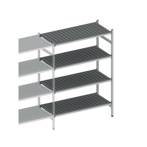 Eko Fit Aluminium Shelving 4 Shelf Levels 450x1485x1700 Extension Bay