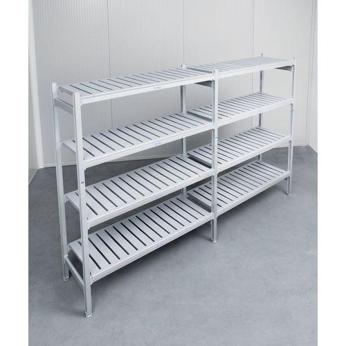 Eko Fit Aluminium Shelving 4 Shelf Levels 600x1335x1700 Extension Bay