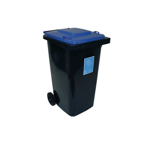 Refuse Container 240 Litre 2 Wheeled Colour Grey With Blue Lid