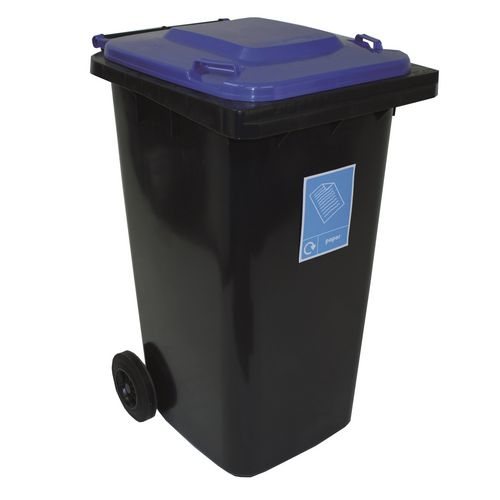 240L Wheelie Bins With Coloured Lids Pack Of 4