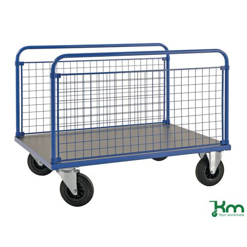 Platform Truck LxW 1000x700mm With Two Mesh Sides