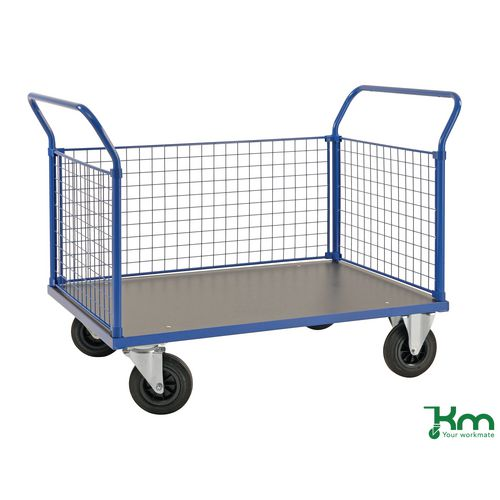 Platform Truck LxW 1366x800mm With Two Mesh Ends And 1 Mesh Side