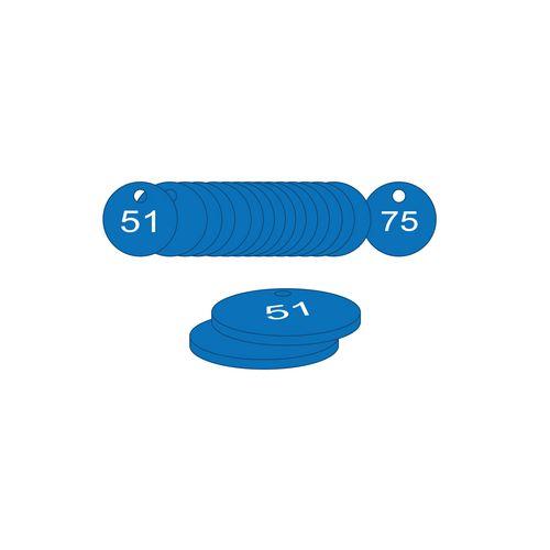 38mm Dia. Traffolite Tags Blue (51 To 75)