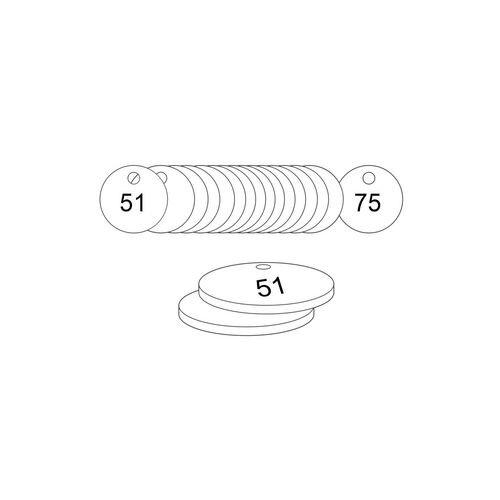 38mm Dia. Traffolite Tags White (51 To 75)