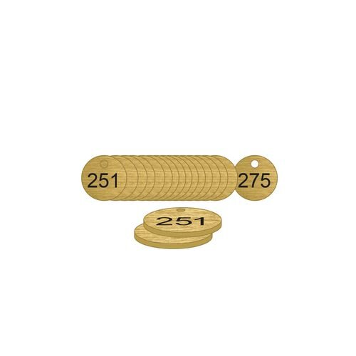 38mm Dia. Traffolite Tags Bronze Effect (251 To 275)