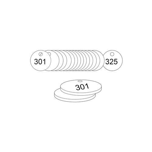 38mm Dia. Traffolite Tags White (301 To 325)