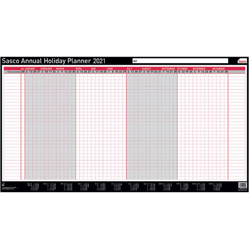 Sasco Annual Holiday Planner Unmounted 2021 2410142