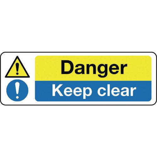 Sign Danger Keep Clear 300x100 Polycarb