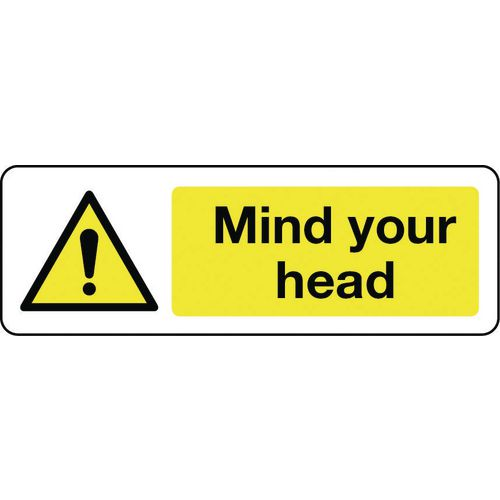 Sign Mind Your Head 600x200 Polycarb