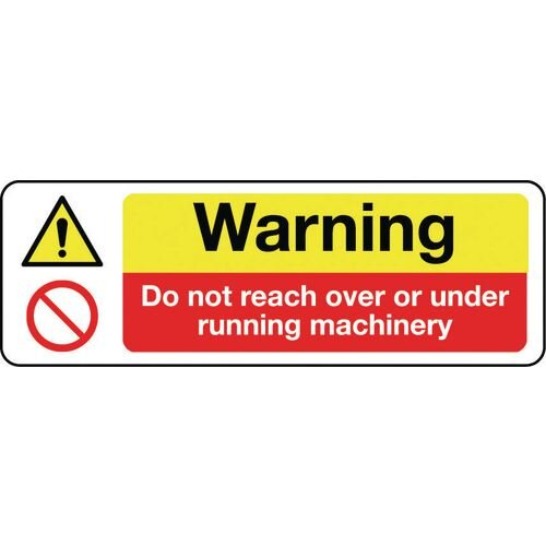 Sign Warning Do Not Reach 300x100 Polycarb