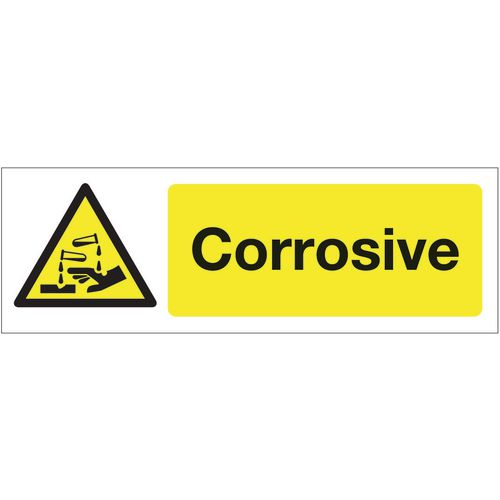 Sign Corrosive 300x100 Polycarb