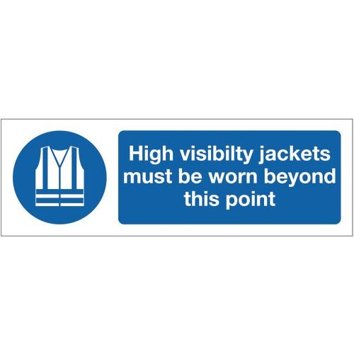 Sign High Visibility Jackets 300x100 Polycarb Polycarbonate 300x100 mm