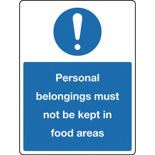 Sign Personal Belongings 150x200 Polycarbonate