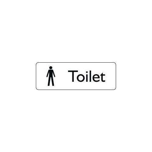 Sign Male Toilet 200X75 Polycarbonate Black On White