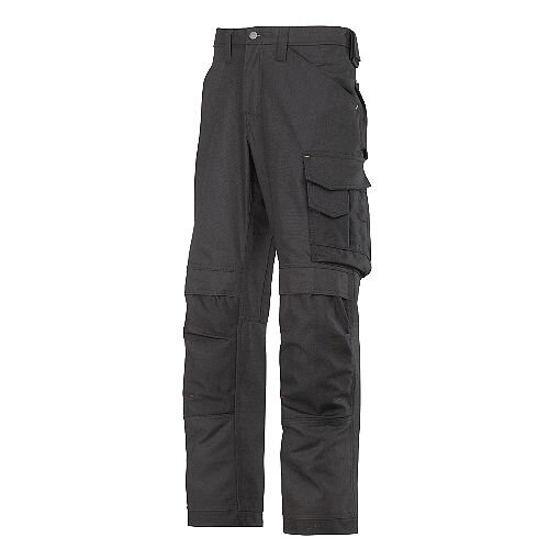 "Snickers Canvas+ Trousers Black Waist 47"" Inside leg 30"""