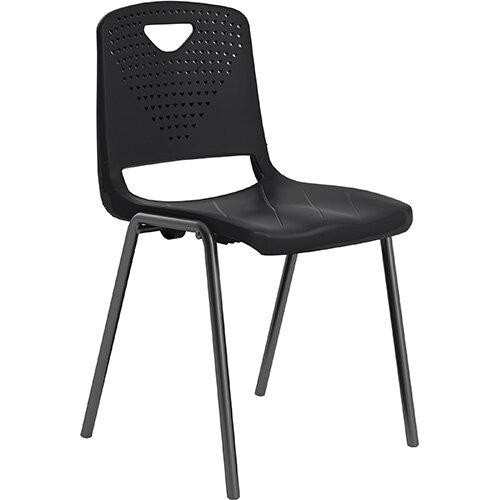 Titan Study 4 Leg Classroom Chair Black