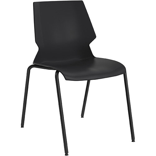 Titan Uni 4 Leg Classroom Chair 475mm Seat Height Grey Frame &Black Seat