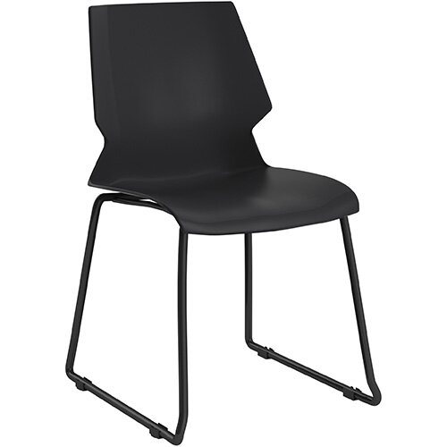Titan Uni Skid Base Classroom Chair 475mm Seat Height Grey Frame &Black Seat