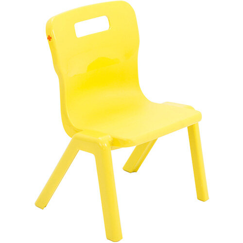 Titan One Piece Classroom Chair Size 1 260mm Seat Height (Ages: 3-4 Years) Yellow T1-Y - 20 Year Guarantee