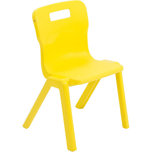 Titan One Piece Classroom Chair Size 2 310mm Seat Height (Ages: 4-6 Years) Yellow T2-Y - 20 Year Guarantee