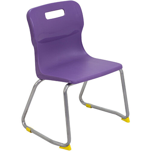 Titan Skid Base Classroom Chair Size 3 350mm Seat Height (Ages: 6-8 Years) Purple T23-P - 5 Year Guarantee