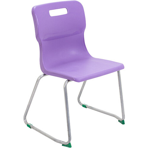 Titan Skid Base Classroom Chair Size 5 430mm Seat Height (Ages: 11-14 Years) Purple T25-P - 5 Year Guarantee